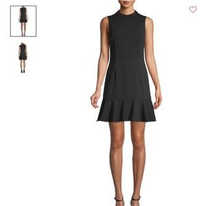 Black Crepe Fit and Flare Dress